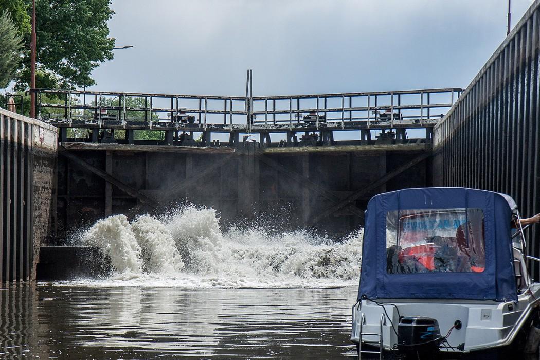 Śluza Łabędy na Kanale Gliwickim / fot. arch. BP Tomasz Żak