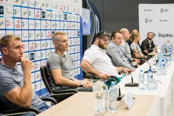Konferencja prasowa przed Memoriałem Kamili Skolimowskiej. fot. Tomasz Żak / UMWS