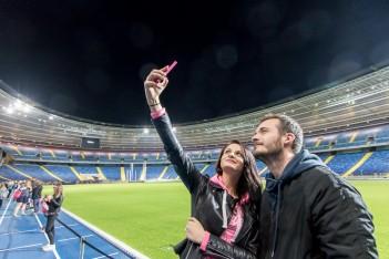 Stadion Śląski nocą