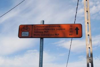 Nowe znaki rowerowe na Wiślance