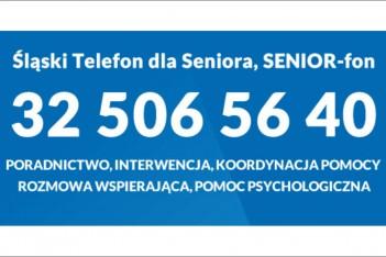 Śląski telefon dla seniora - 32 5065640 / graf. ROPS