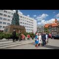 Złożenie wieńca przy Pomniku Wojciecha Korfantego w Katowicach. fot. Tomasz Żak / UMWS
