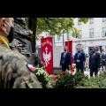 Złożenie wieńców przy obelisku poświęconemu dr. Andrzejowi Mielęckiemu w Katowicach. fot. Tomasz Żak / UMWS