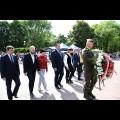 Złożenie kwiatów na Placu Powstań Śląskich w Parku Śląskim. fot. Patryk Pyrlik / UMWS