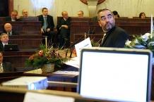 Podczas Sesji Marszałek Janusz Moszyński przedstawił projekt budżetu województwa na 2008 rok