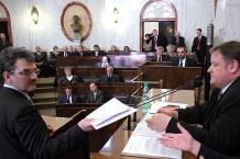 Wyniki glosowania odczytał radny Bogusław Śmigielski