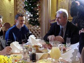 Adam Małysz i Marszałek Jan Olbrycht Wisła, 6 lutego 2001
