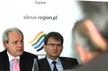 Adam Szejnfeld, wiceminister Gospodarki oraz marszałek Bogusław Śmigielski zachęcali hiszpańskich przedsiębiorców do inwestycji w Województwie Śląskim