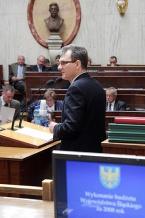 Marszałek Bogusław Śmigielski przedstawił sprawozdanie z wykonania budżetu za rok 2008