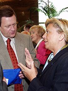 Spotkanie z Marszałkeim Województwa Śląskiego podczas Wielkiego Pikniku Europejskiego