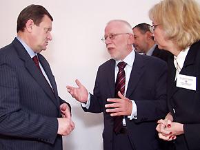Od lewej Marszałek Michał Czarski i Wolfgang Kuschke