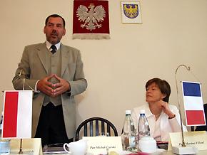 Od lewej: Wicemarszałek Sergiusz Karpiński i Wiceprzewodnicząca Martine Filleul