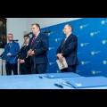 Podpisanie umowy na dofinansowanie rozbudowy bazy diagnostycznej Szpitala nr 2 w Mysłowicach w ramach RPO / fot. BP UMWS Tomasz Żak