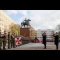 Uroczystości przed pomnikiem Józefa Piłsudskiego w Katowicach / fot. Tomasz Żak / UMWS